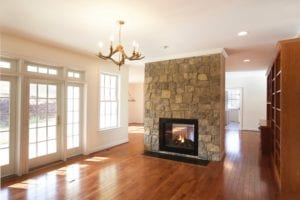 Luxury Custom Family Room with Fireplace by True Living Custom Homes