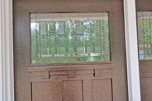 luxury custom home exterior door detail