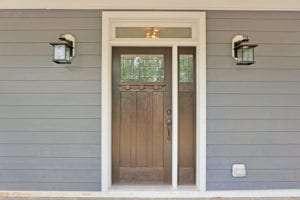 luxury custom home exterior door