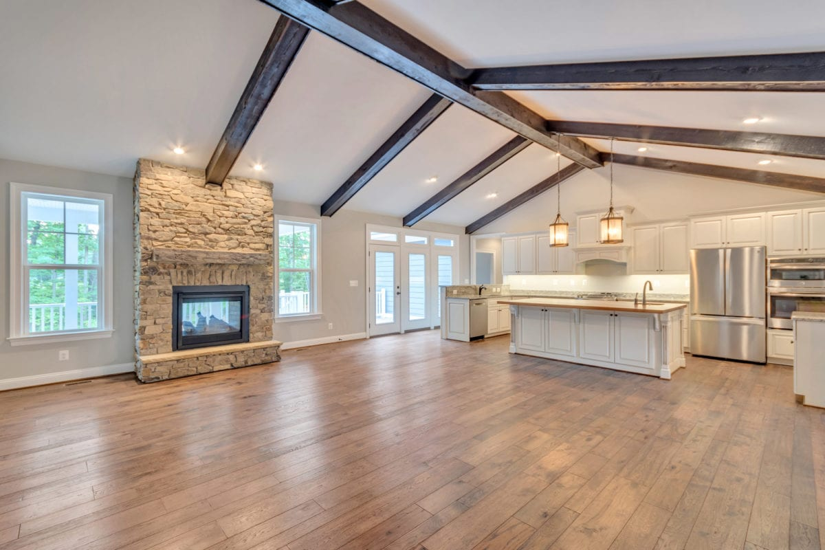 Luxury Custom Kitchen and Living by True Living Custom Homes