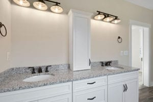 master bathroom double sink