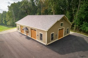 custom brown barn built by True Living