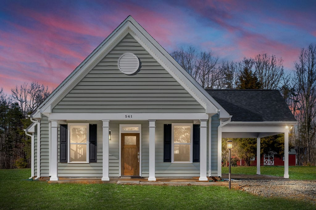 Gorgeous front of custom home