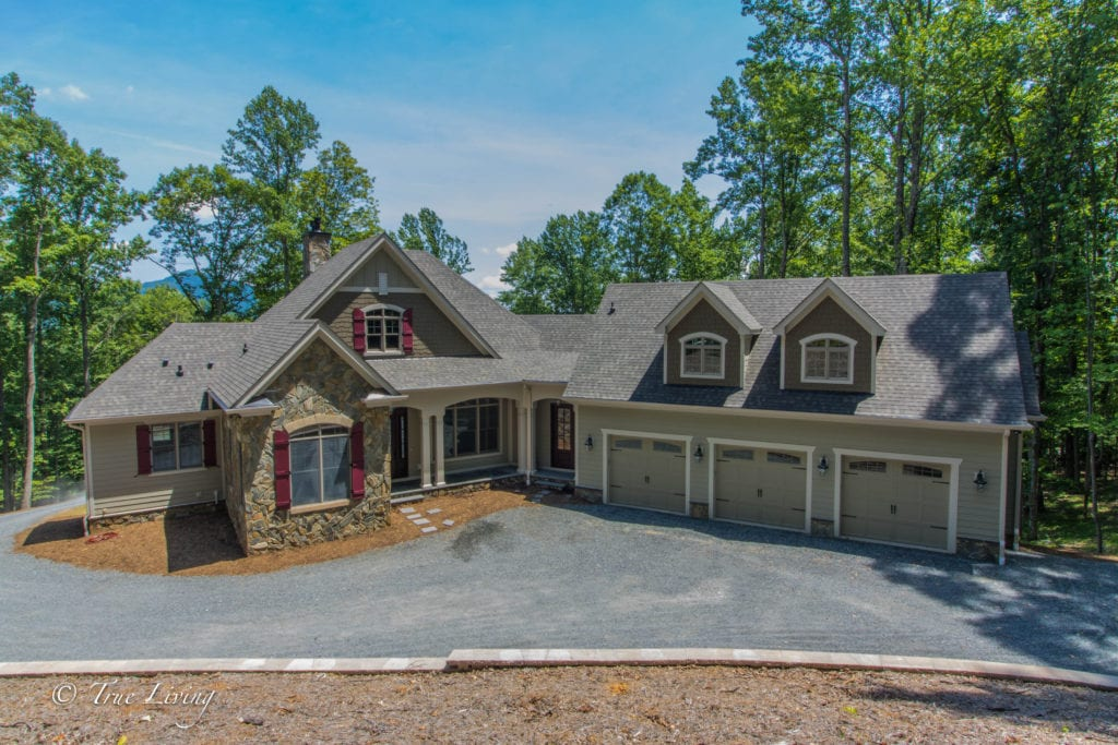 Front of Beautiful Custom Home