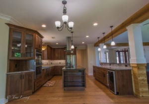 island and countertops inside kitchen