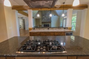 oven view in kitchen of custom home