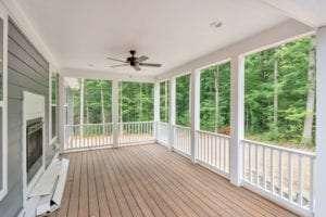exterior view of custom back porch