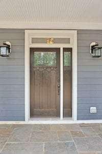 front door of custom home