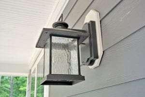light lamp outside the house