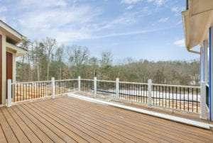 back deck of True living home