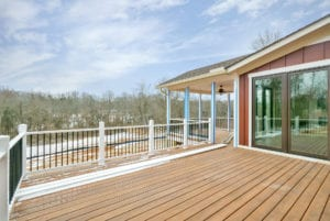 back deck with nature view