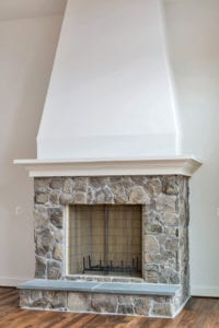 fireplace in house built by True Living