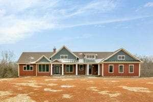 Front of custom built home