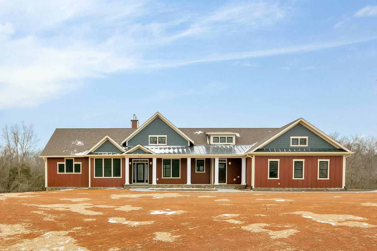 Front of custom built home