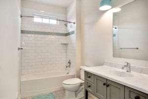 bath tub and sink in custom home