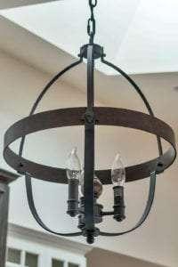 light fixture in custom home