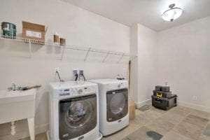 laundry room in custom home