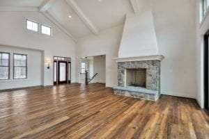living room of custom home