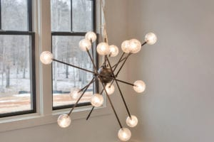 Light fixture in custom built home