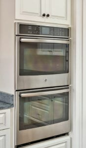 wall oven in custom kitchen
