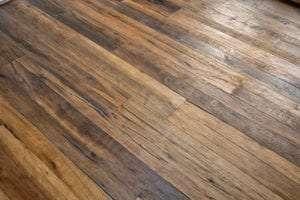 wood floor in custom home