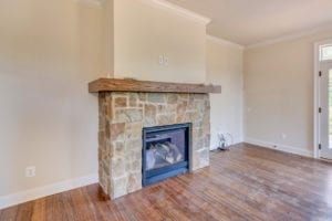fireplace view in bedroom