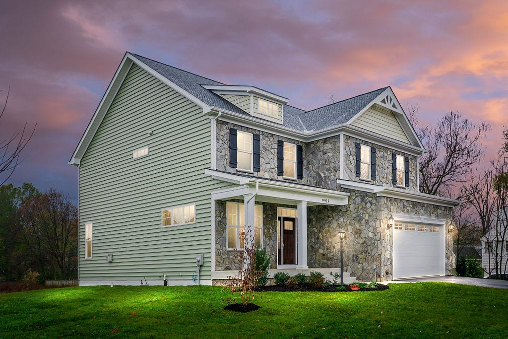 beautiful front of signature custom home