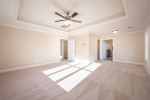 master bedroom with fan